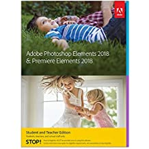 Adobe Photoshop Elements 2018 & Premiere Elements 2018 estudiantes y profesores