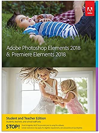 Adobe Photoshop Elements 2018 & Premiere Elements 2018 Student and Teacher - No Subscription Required
