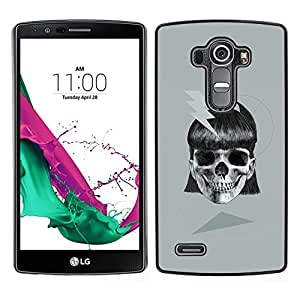 Be-Star Único Patrón Plástico Duro Fundas Cover Cubre Hard Case Cover Para LG G4 ( Girl Skull Electric Metal Ink Biker Tattoo )