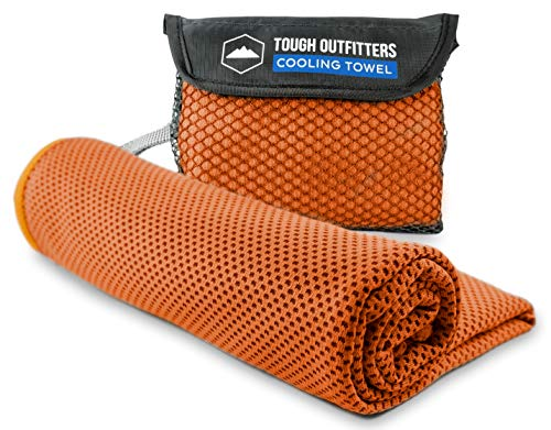 Instant Cooling Towel - Stay Cool, Fresh & Active for Hours. Ideal for All Sports & Outdoor Adventures - Camping, Hiking, Gym Workout, Fitness, Yoga, Golf. Wear it as a Neck Wrap or Bandana. UPF 50