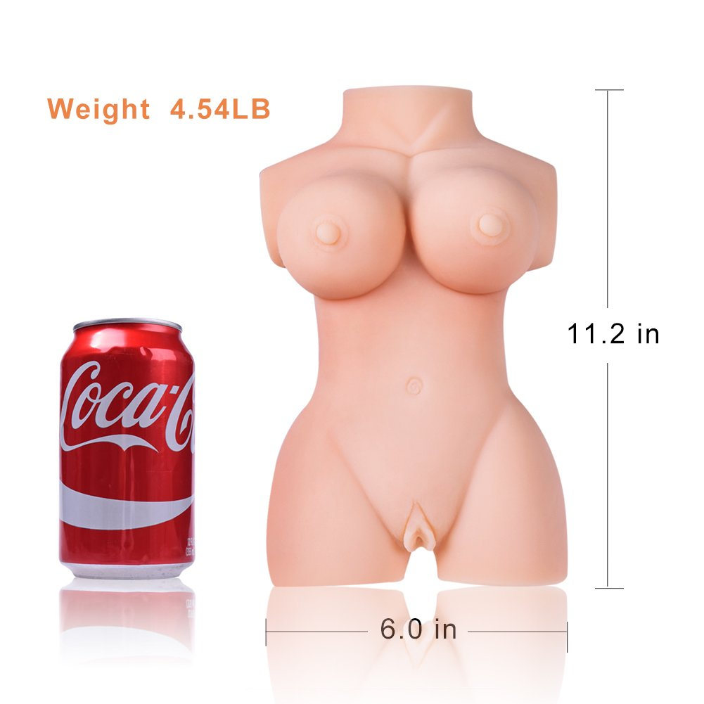 Super Soft & Real Women Full Body Torso Lifelike Silcone Doll Realistic Pussycat Dolls Men's Male Adult Toys with 2 Entries (12x6.5x3.9 in) by GOONANA (Image #7)
