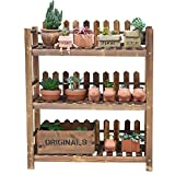 Folding Wooden Flower Rack Living Room Multi-storey Indoor Flower Stand Frame (carbon Baking Color)