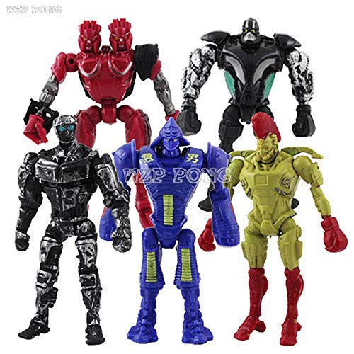 5pcs/Set 12 cm Real Steel Atom Midas Noisey Zeus Toy Figure -