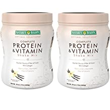 Nature's Bounty Protein & vitamin Shake Mix, Vanilla bean, 16 Ounce (Pack of 2)