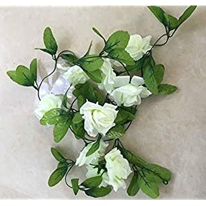 GSD2FF DIY Flower Home Decoration Wedding Fake Silk Rose Hanging Flower Garland Home Artificial Flowers Mariage 43