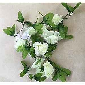 GSD2FF DIY Flower Home Decoration Wedding Fake Silk Rose Hanging Flower Garland Home Artificial Flowers Mariage 34