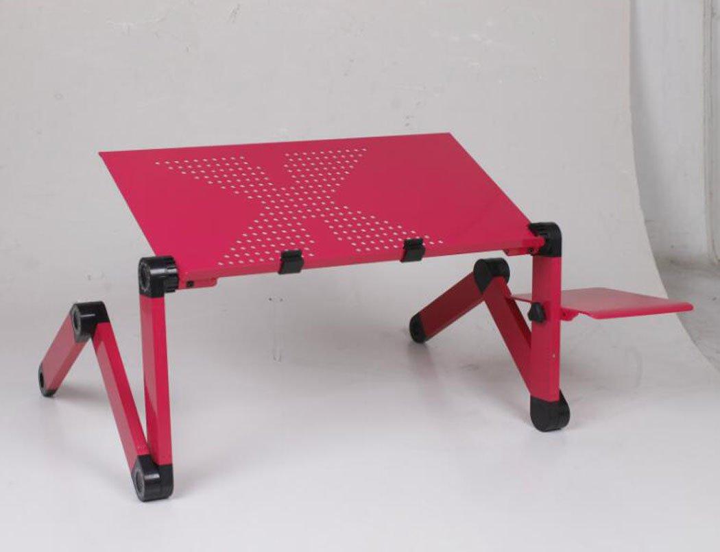 Hhdd Adjustable Laptop Stand Desk Portable Laptop Stand Desk 360° Rotation and 180° Tilt Laptop Table (Blue Fanless) (Color : Red, Design : 480)
