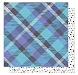 American Crafts 1 Canoe 2 Hazelwood Collection 12 X 12 Double Sided Paper Woodland Plaid (8 Pack)