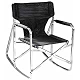 Directors Folding Rocking Chair, Black