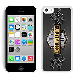 iPhone 5C Case,harley davidson logo White For iPhone 5C Case WANGJING JINDA
