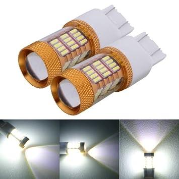 2 piezas T20 W21/5 W 7443 5 W 540LM luz blanca 54 SMD 4014 LED ...