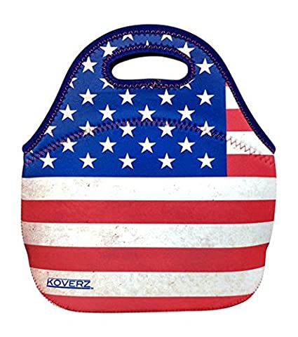 53eb27179179 KOVERZ - #1 Neoprene Lunch Bag, Lunch Tote - CHOOSE YOUR STYLE! - American  Flag