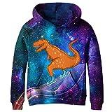 SAYM Boys'Teen Youth Galaxy Fleece Sweatshirts Pockets Cotton Hoodies 4-16Y NO13 M