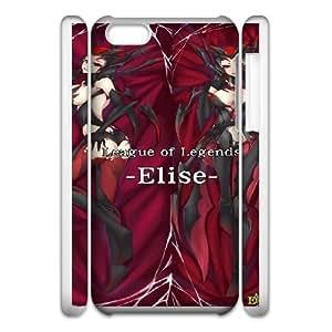 Durable Phone Case 3D iphone6 Plus 5.5 3D Cell Phone Case White Havyf League of Legends Elise Plastic Durable Cover