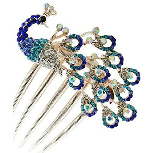 usongs Phoenix diamond peacock diamond tooth comb classic and plug comb decorated with elegant hair jewelry ethnic wind