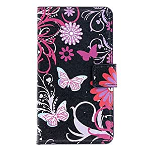 Beautiful Butterflies Pattern Full Body Case with Card Slot for Nokia Lumia 720/N720 (Black)