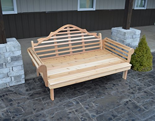 ASPEN TREE INTERIORS Best DAYBED for Home Furniture & Patio Seating, 3 Person Bench, Cedar Lutyens Style Outdoor Day Bed, Unique Outside Decor, Amish Made in US, 6 Foot ()
