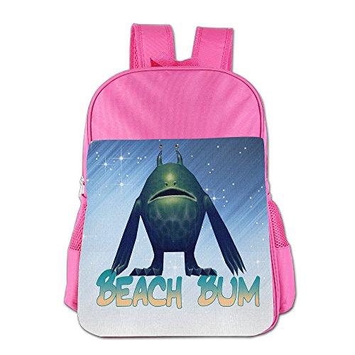 FUOALF Beach Bum Kids Children Boys Girls Shoulder Bag School Backpack Bags (Ratchet Costume)
