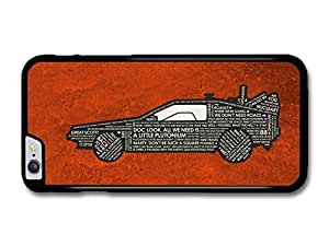 Back To The Future Car Marty McFly Doc Quotes Orange Background case for iphone 6 4.7