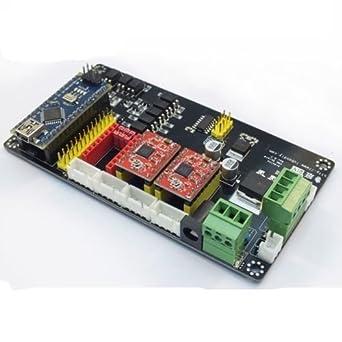 3 Axis Usb Cnc Controller A4988 Stepper Motor Driver Board