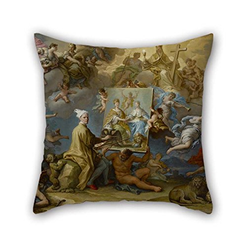 the oil painting paolo de matteis allegory of the consequences of the peace of utrecht pillow cases of 20 x 20 inches 50 by 50 cm decoration gift for