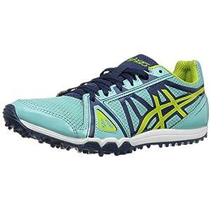 ASICS Women's Hyper-Rocketgirl XCS Cross-Country Running Shoe, Aruba Blue/Neon Lime/Poseidon, 7 M US