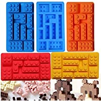 1Pc Silicone Lego Brick Candy Chocolate Mould Party Favor Jello Soap Crayon Mold Pan for Lego Lover Silicone Brick Ice Cube Form : Random Color