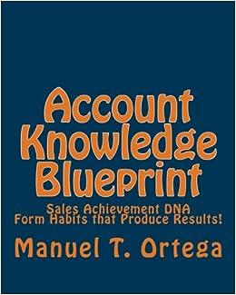Account knowledge blueprint sales achievement dna mr manuel t account knowledge blueprint sales achievement dna mr manuel t ortega 9781453770320 amazon books malvernweather Image collections