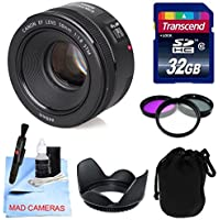 Canon Lens Kit With Canon EF 50mm f/1.8 STM Lens + 32 GB Transcend SD Card + Lens Hood + Filter Kit- (49mm Thread) for Canon DSLR Cameras (Fixed Zoom Portrait/Video Lens) Advantages Review Image