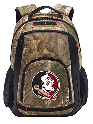 Florida State Camo Backpack REALTREE FSU Backpacks - Laptop Section! by Broad Bay