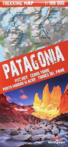 Patagonia Trekking Map 1:160K Waterproof (TerraQuest) (English, Spanish, French, Italian and German Edition)