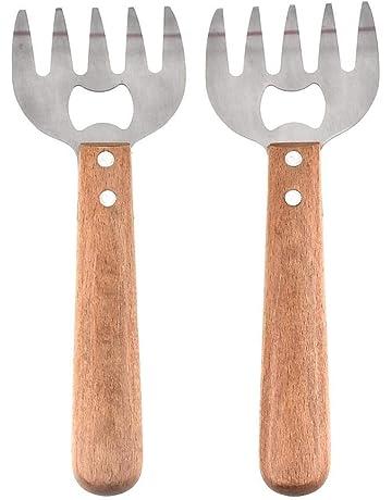 Househome Tenedores De Triturador De Carne, Tenedor con Garras De Oso Herramientas De Barbacoa Y