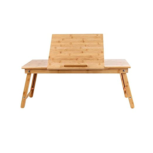 XUERUI Mesas Escritorio Mesa Bambú Plegable Natural Cama Bandeja ...