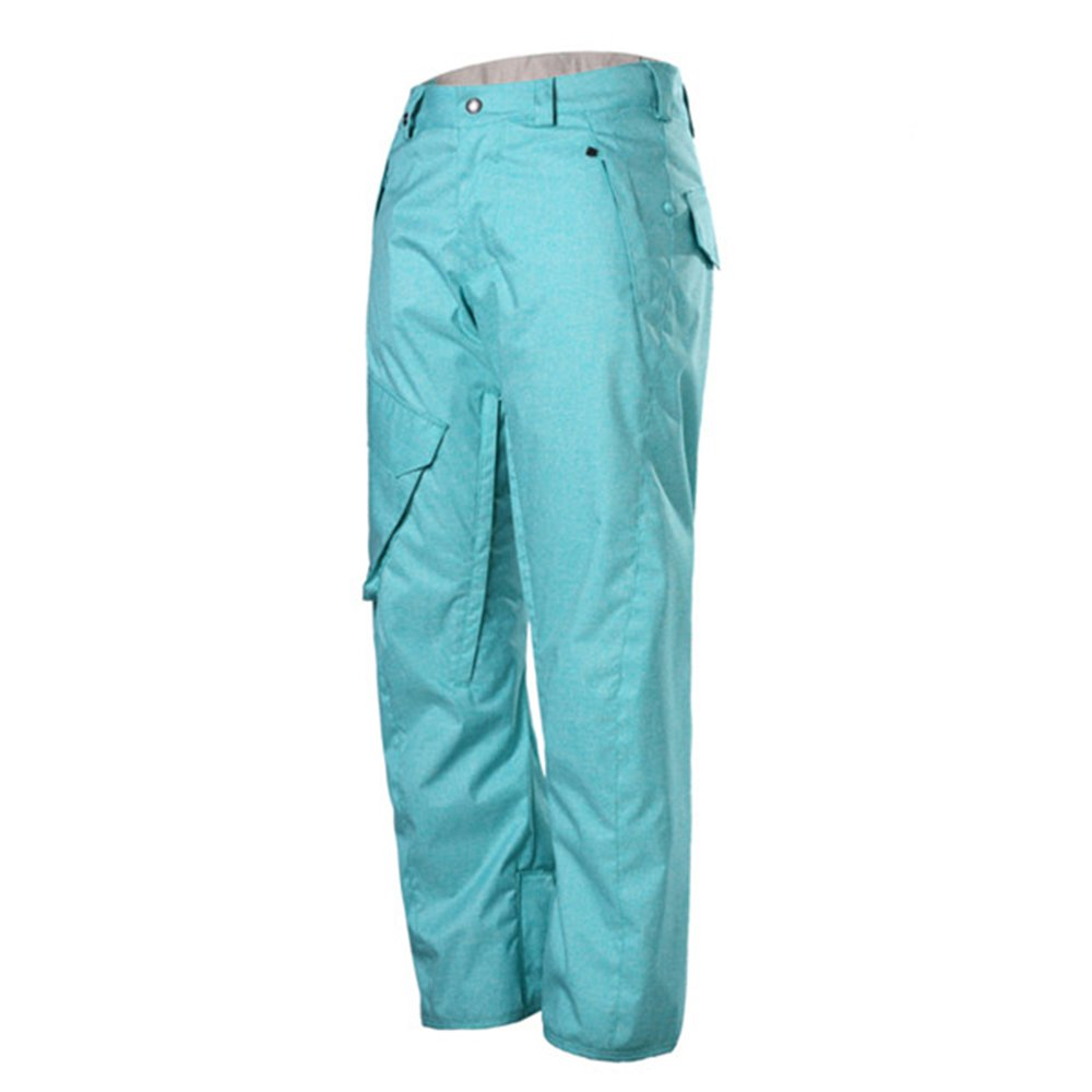 GSOU Snow Men's Outdoor Insulated Windproof Waterproof Skiing Hiking Pants (Light Blue, M)