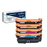 LCL Remanufactured Toner Cartridge Replacement for HP 647A 648A CE260A CE261A CE262A CE263A (4-Pack Black Cyan Magenta Yellow)