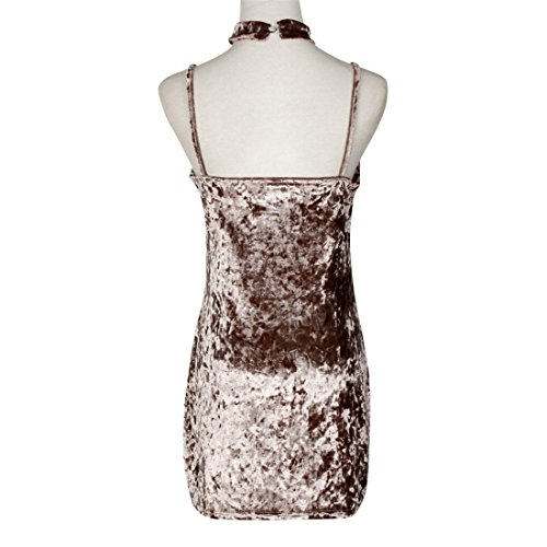 Malloom FrauenDamenreizvolles glänzendes SamtAbendKleid Bodycon ...