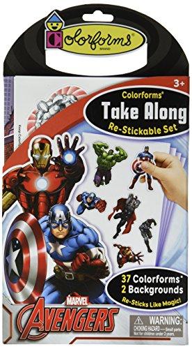 Colorforms Brand Avengers Take Along Restickable Set