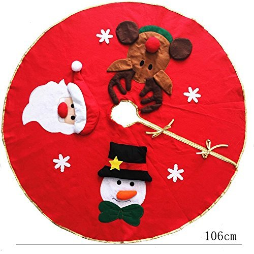 KPAO Christmas Tree Skirt for Christmas Holiday Party Decoration 42 Inches