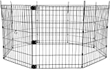 AmazonBasics Foldable Metal Pet Exercise and Playpen, 30'