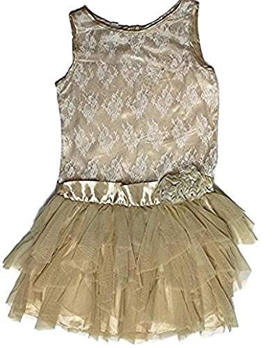 - Biscotti Kate Mack Girl's Drop Waist Special Occasion Dress, Gold, Size 12