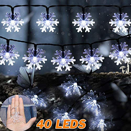 Outdoor Snowflake Light String in US - 5