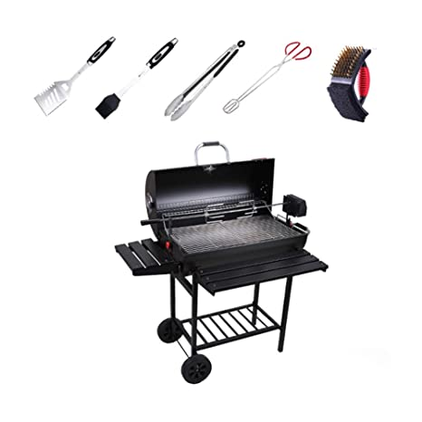 ACZZ Charcoal Bbq Grill_Thicken Smoker Barbacoa grande ...