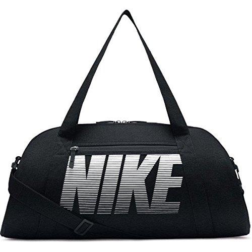 NIKE Women's Gym Club Duffel Bag, Black/Black/White, One Size from Nike