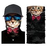 Glumes Face Mask Half Sun Dust Protection|Vivid 3D Animal Tube Mask Seamless|Durable Face Mask|Bandana Skeleton Face Shield|Motorcycle Fishing Hunting Cycling Halloween Party (H)