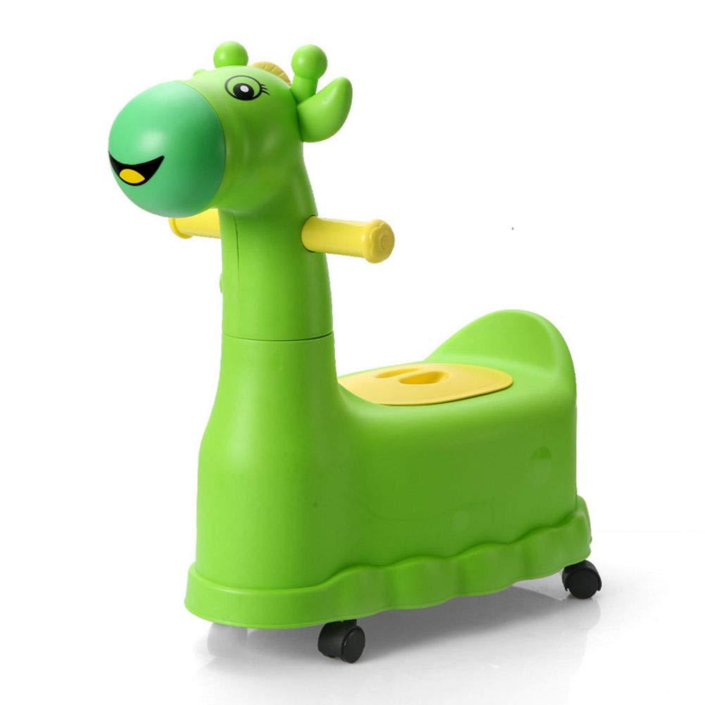 HomDSim Baby Potty Training Wheels Racer Potty Potties Seats Step Stool Potty Toilet for Toddler Boys Girls Giraffe