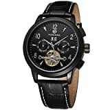 Swiss Men's Simple Waterproof Business Automatic Military Tourbillon Wrist Watch