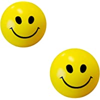 Abee Stress Reliver Smiley Ball (Multicolour) - Pack of 2