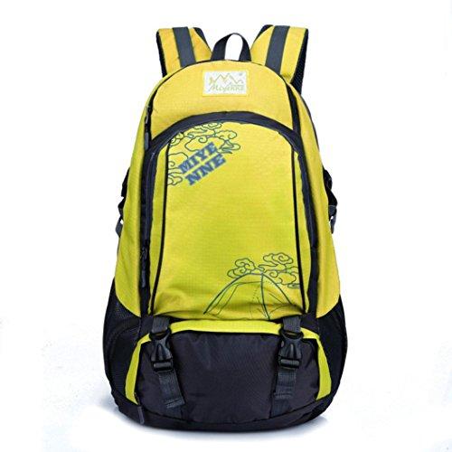 Clode® Hombres Mujeres Mochila para portátil Notebook Computer School bolsa de viaje Mountaineer amarillo