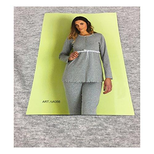 AMICA pigiama donna grigio 100% cotone INTERLOOK mod 72A356 MADE IN ITALY