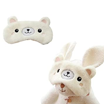 Gofypel Plush Sleeping Masks Comfortable Cute Rabbit Koala Bear Eye Blinder Cartoon Shade Sleep Cover